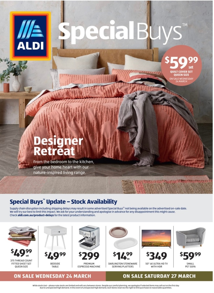 Aldi Australia Catalogue Wednesday 24 & Saturday 27 March 2021