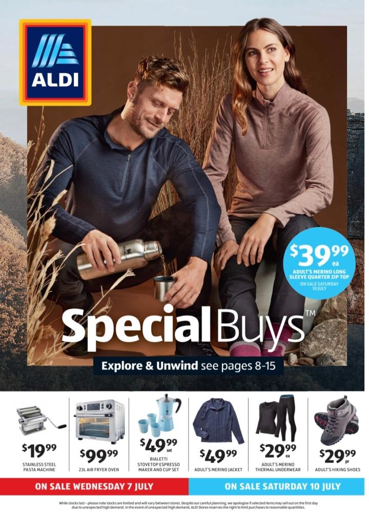 Aldi Australia Catalogue Wednesday 7 July & Saturday 10 July2021
