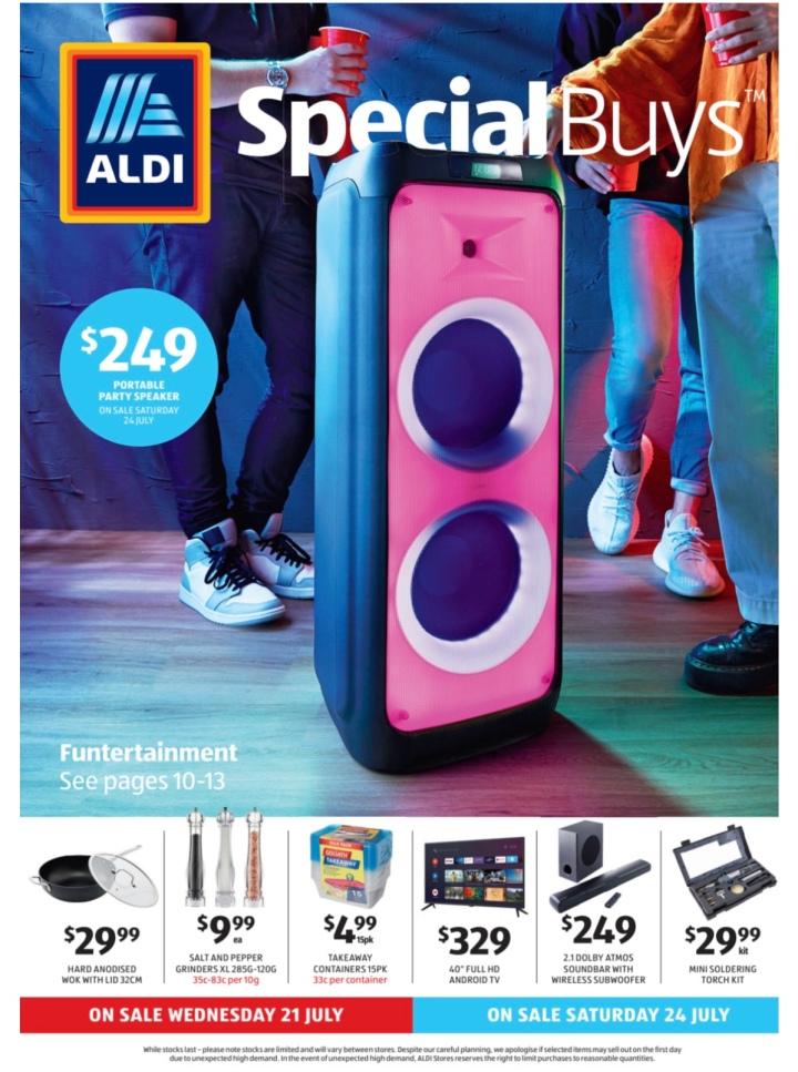 Aldi Australia Catalogue Wednesday 21 July & Saturday 24 July2021