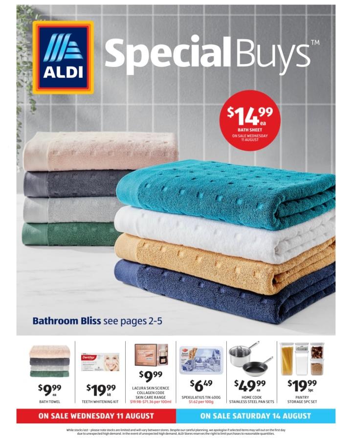 Aldi Australia Catalogue Wednesday 11 August & Saturday 14 August2021