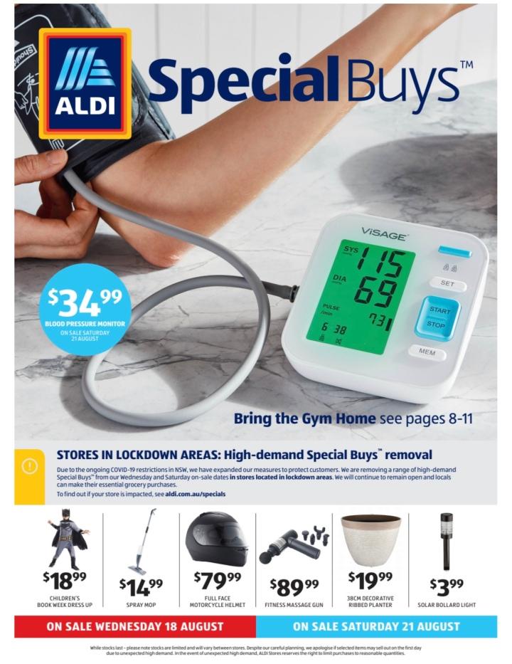 Aldi Australia Catalogue Wednesday 18 August & Saturday 21 August2021