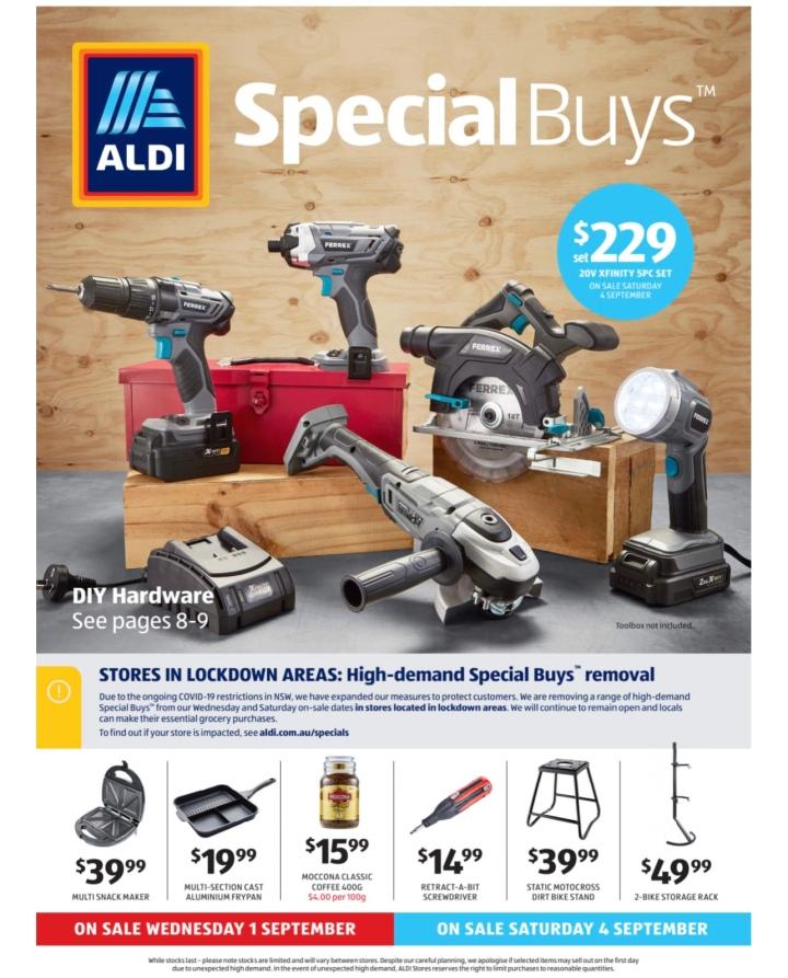 Aldi Australia Catalogue Wednesday 1 September & Saturday 4 September2021