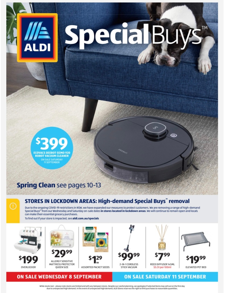 Aldi Australia Catalogue Wednesday 8 September & Saturday 11 September2021