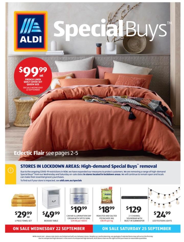 Aldi Australia Catalogue Wednesday 22 September & Saturday 25 September2021