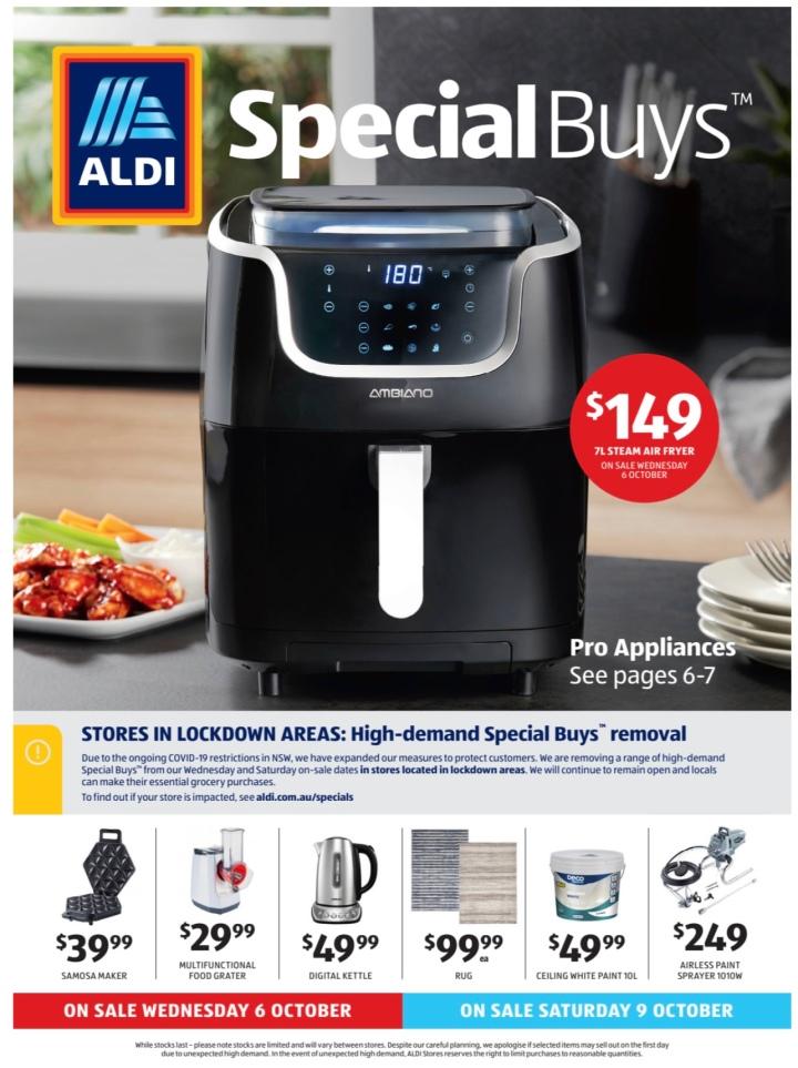Aldi Australia Catalogue Wednesday 6 October & Saturday 9 October2021