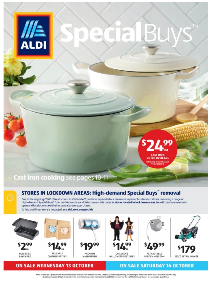 Aldi Australia Catalogue Wednesday 13 October & Saturday 16 October2021